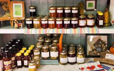 Locally made jams and preserves