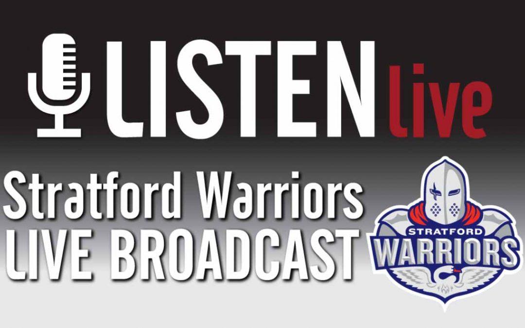 Proud Sponsor of Stratford Warriors LIVE Broadcast